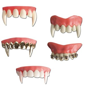 Dentier monstre horrible adhésif