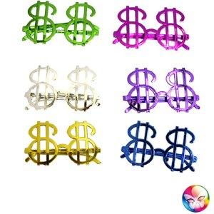 Lunettes dollar coloré