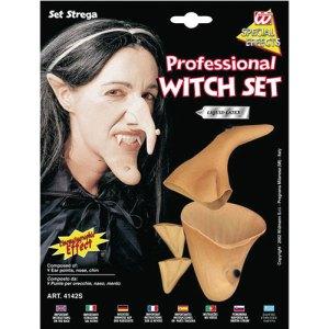 Set visage de sorcière - Accessoire maquillage déguisement