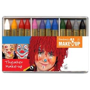 Boite crayons maquillage 12 crayons gras Maquillage cosmétiques déguisements enfants adultes