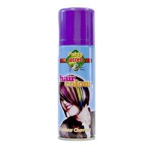 Laque cheveux violet