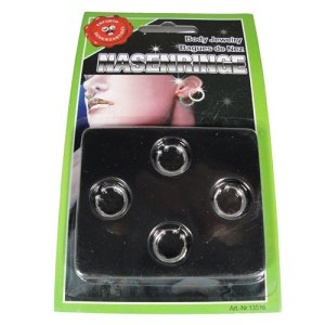 Faux piercings nez oreille