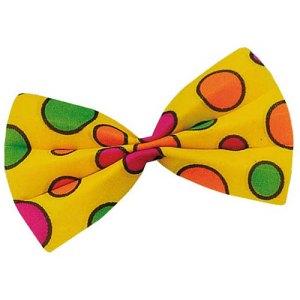 Noeud papillon jaune clown