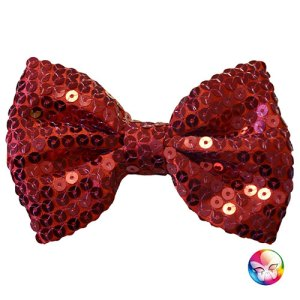 Noeud papillon sequins rouge