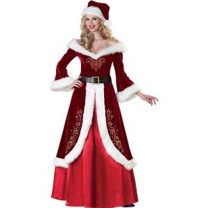 Costume femme Mère Noël qualité supérieure