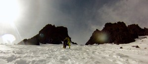 Mountain Safety - Filming - Climbing - Winter - Snow gully - Mountain Safety and Rescue - Location Safety ltd