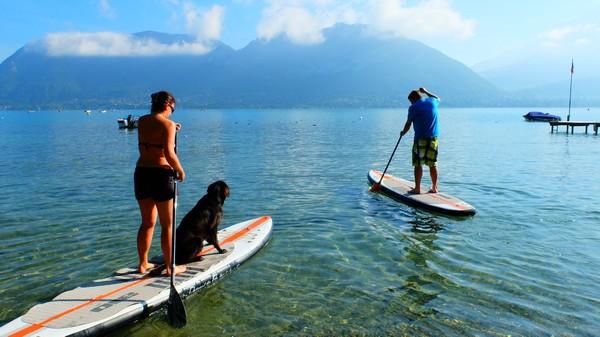 le paddle en septembre sur le lac d'Annecy