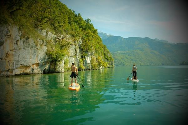 Paddle vacances Toussaint lac Annecy