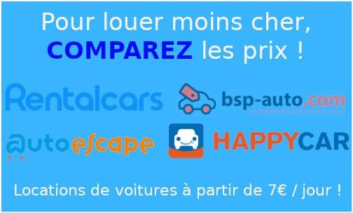 comparateurs prix location voiture