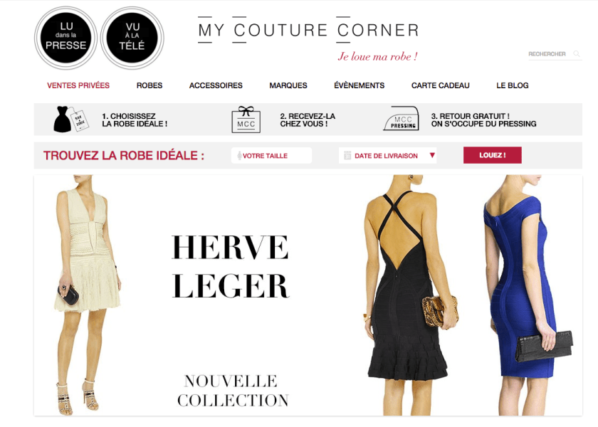 my couture corner page accueil