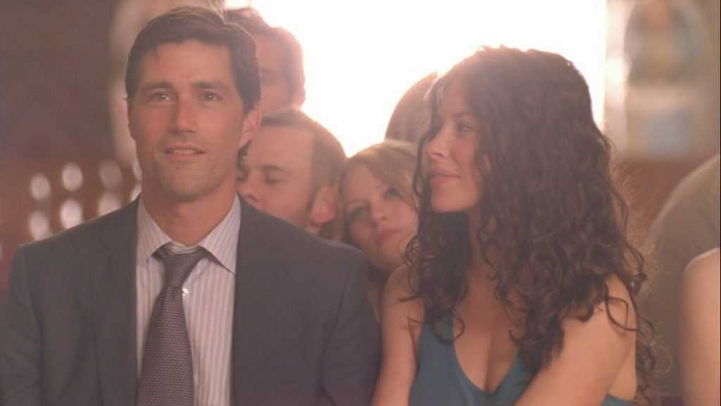 Emilie de Ravin, Matthew Fox, Dominic Monaghan, and Evangeline Lilly in Lost 6 il finale
