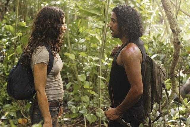 Naveen Andrews e Evangeline Lilly in Lost sesta stagione