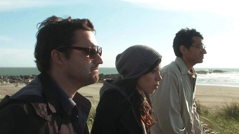 Jake Johnson, Aubrey Plaza, and Karan Soni in Safety Not Guaranteed (2012)