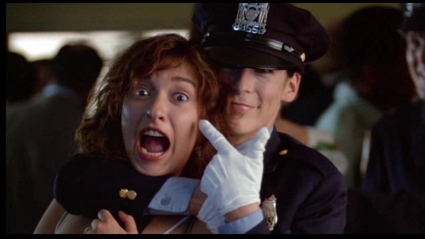 Jamie Lee Curtis and Elizabeth Peña in Blue Steel (1990)