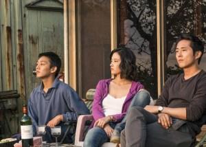 Ah-in Yoo, Steven Yeun, and Jong-seo Jun in Beoning (2018) film