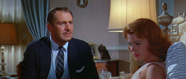 Vincent Price and Patricia Owens in The Fly (1958) l'esperimento del dottor k