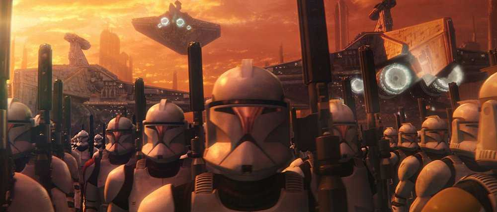 le truppe delle repubblica in L'attacco dei cloni