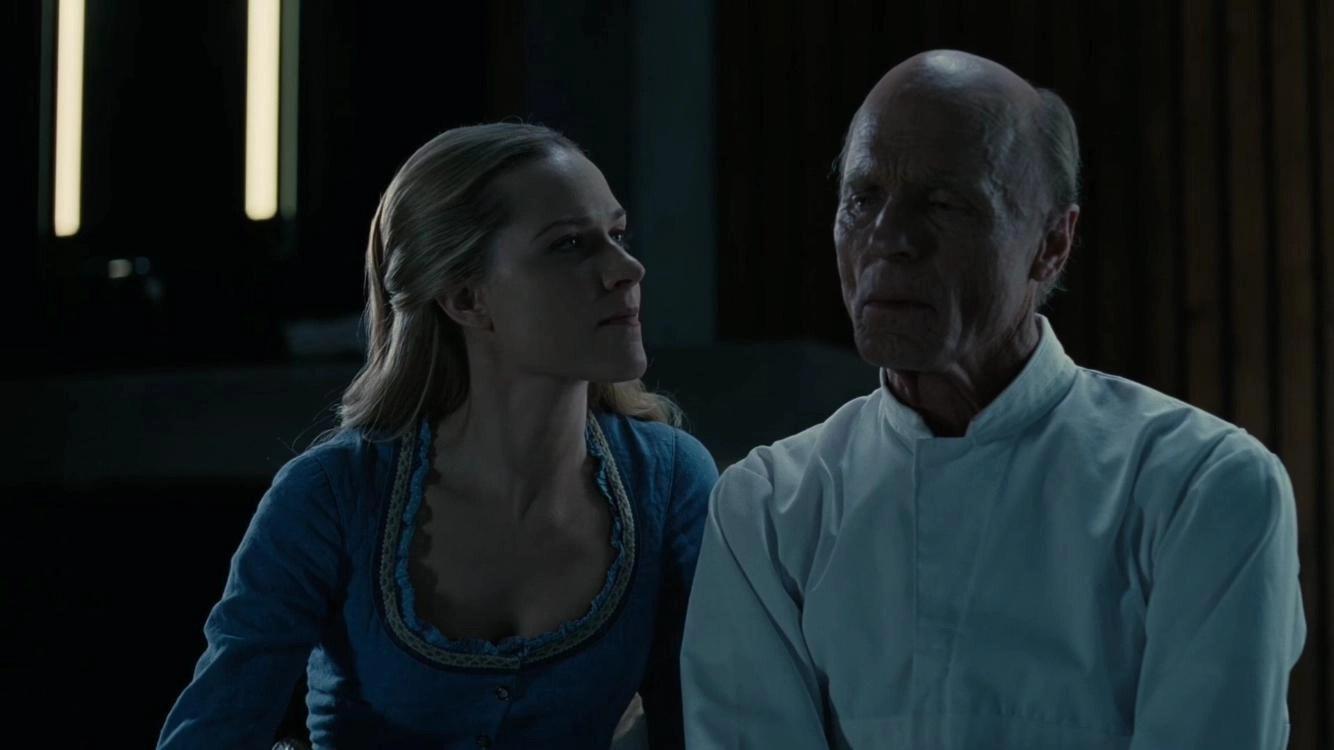 Ed Harris e Evan Rachel Wood in Westworld 3