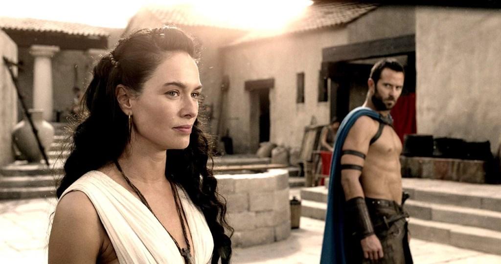 Temistocle e la regina Gorgo in una scena del film - 300 - L'alba di un Impero