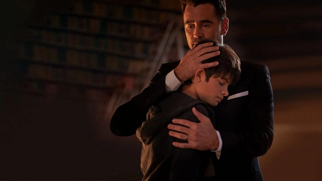 Colin Farrell e Ferdia Shaw in Artemis Fowl