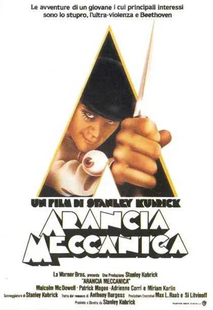 arancia meccanica la locandina del film di Kubrick