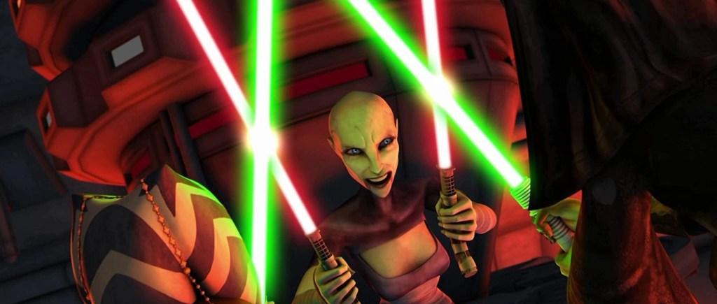 Olivia d'Abo, Ashley Eckstein, and Nika Futterman in Star Wars The Clone Wars