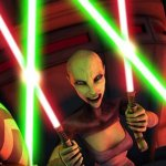 Olivia d'Abo, Ashley Eckstein, and Nika Futterman in Star Wars The Clone Wars