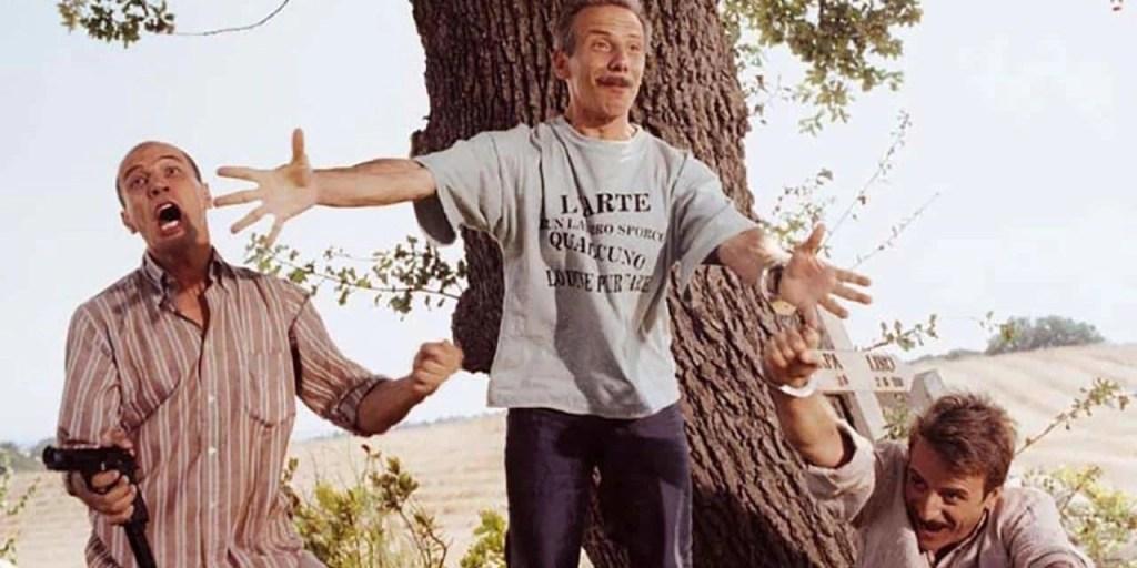 Aldo, Giovanni e Giacomo in una scena del film - Così è la vita