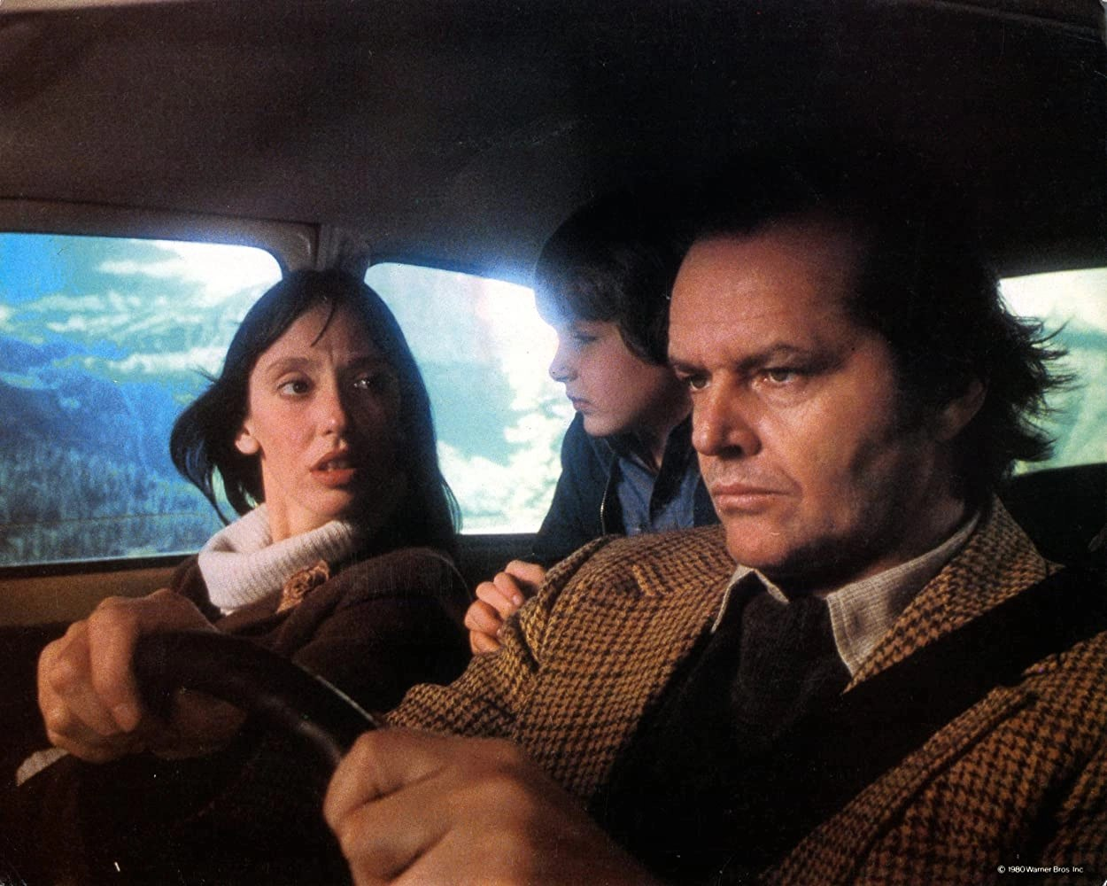 Jack Nicholson, Shelley Duvall, e Danny Lloyd in The Shining