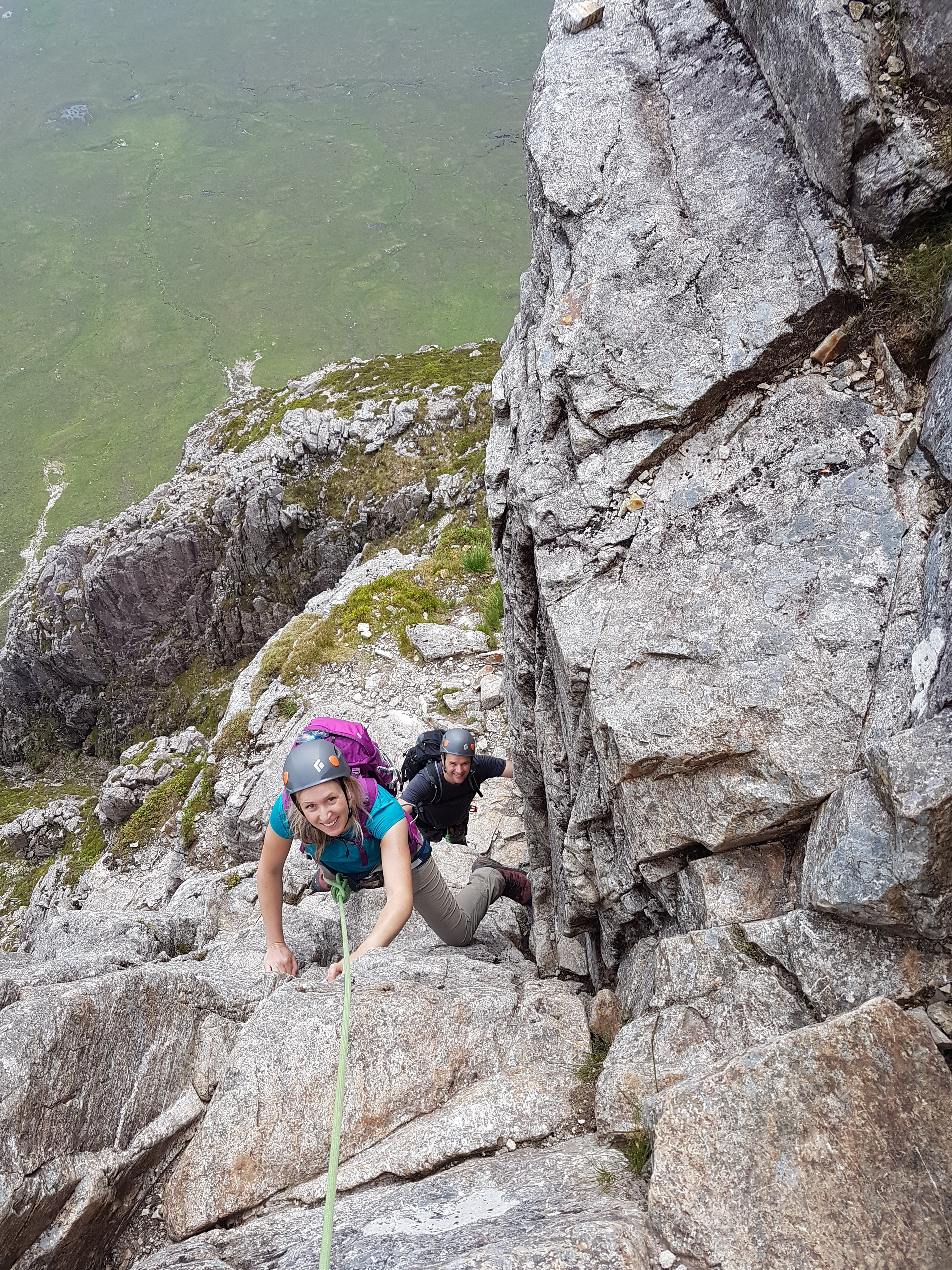 Scrambling on Curved Ridge, Glencoe with a Curved Ridge Guide from Lochaber Guides.
