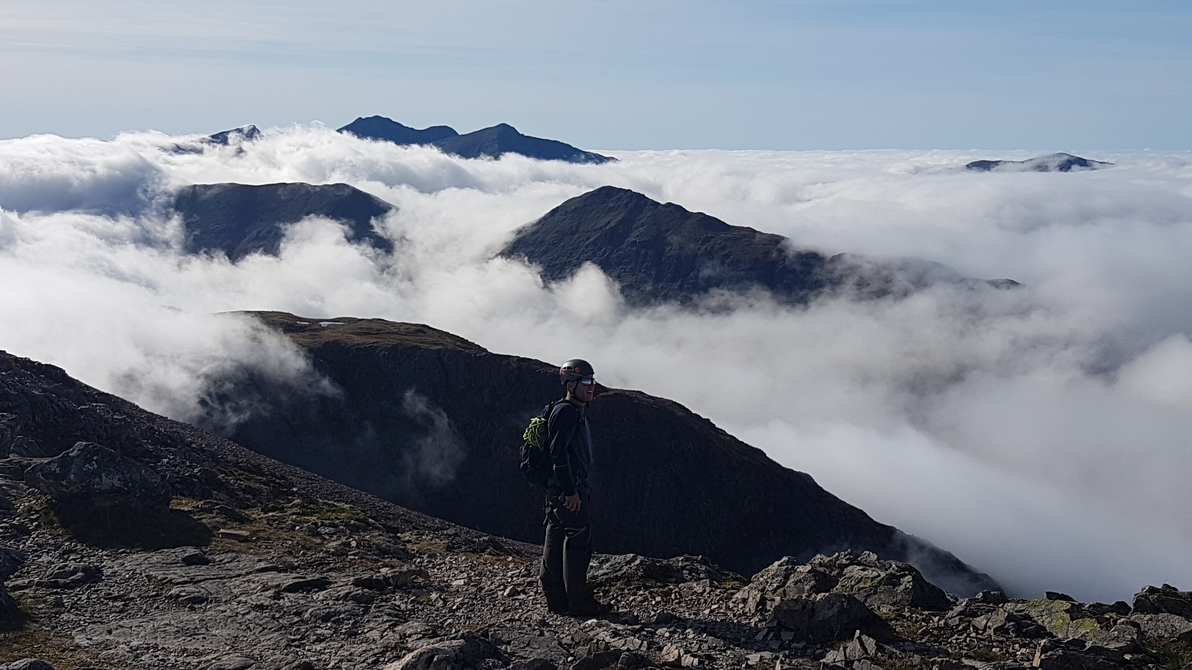 Views from Stob Dearg after a climbing Curved Ridge with a Curved Ridge Guide from Lochaber Guides.