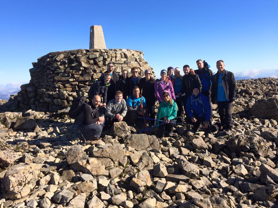 The summit of Ben Nevis on a Ben Nevis Guided Walk with Locahber Guides.