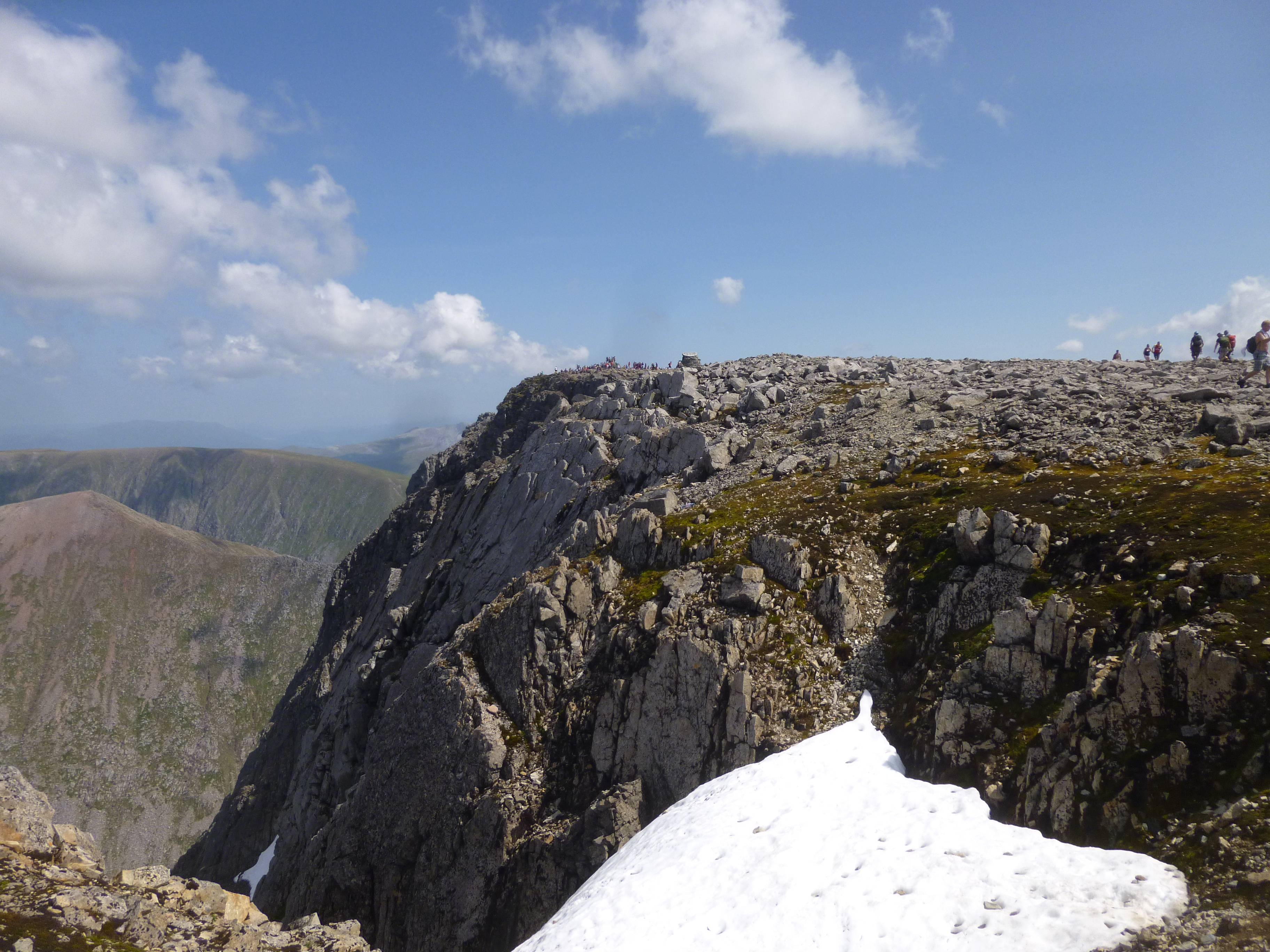 The Summit of Ben Nevis viewed from Tower Gully. Guided Ben Nevis walks
