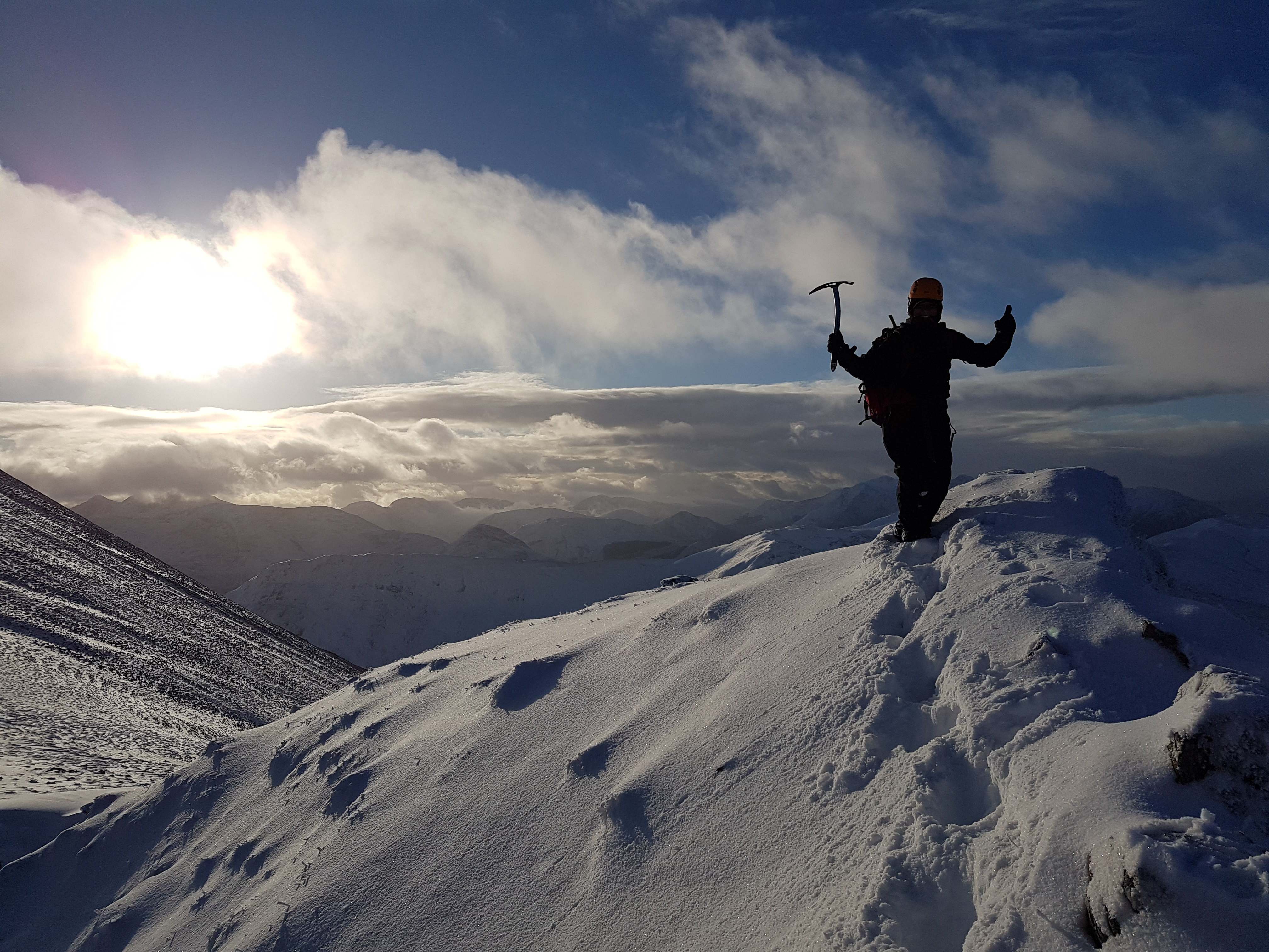 Enjoying the views on a Winter Skills Course.