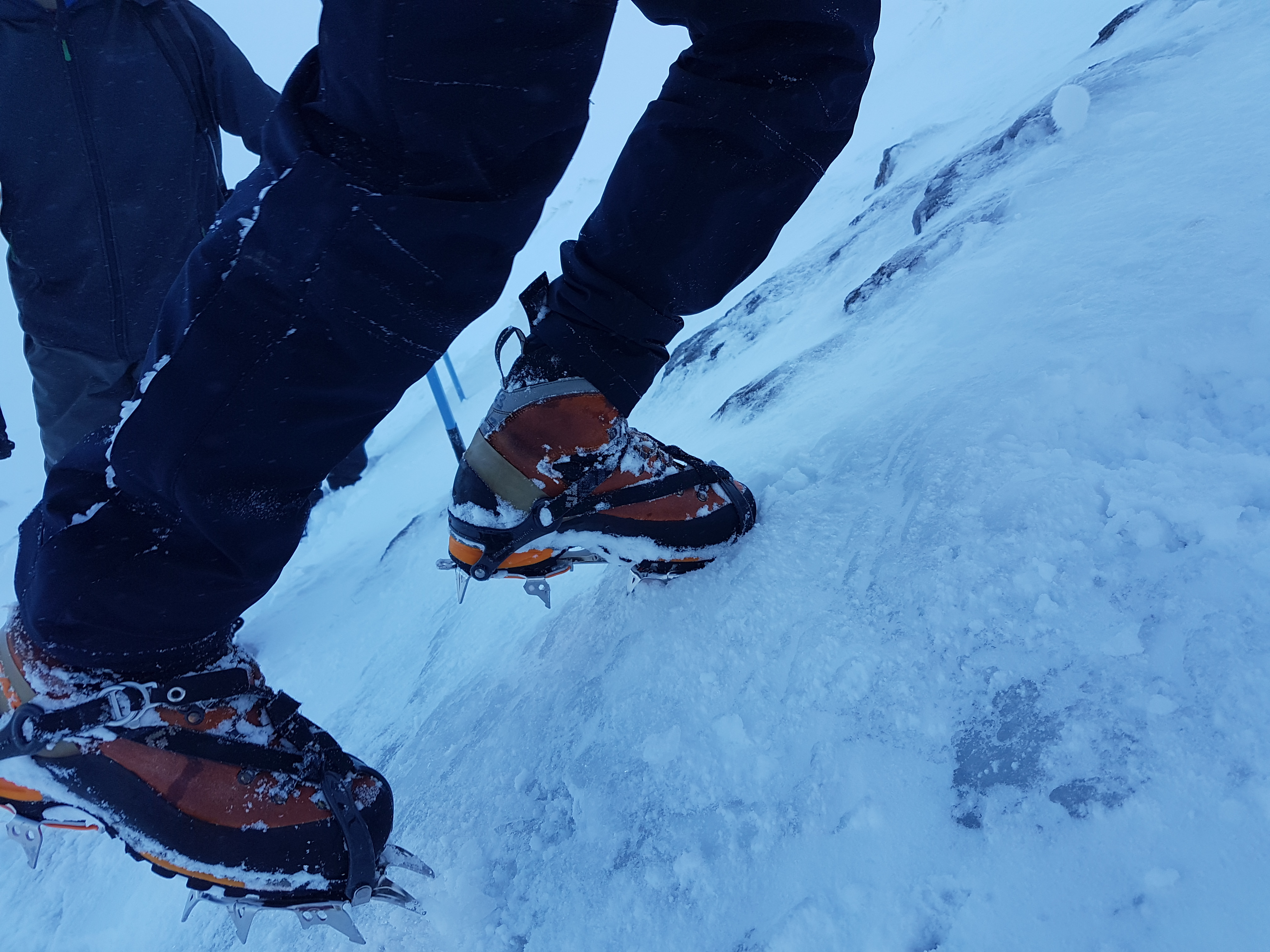 Learning how to use Crampons