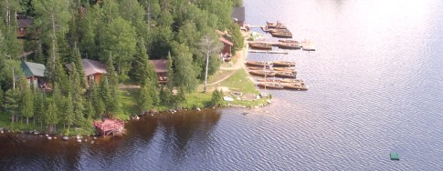 Camp Lochalsh From The Air - Ontario Fishing