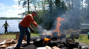 Shore Lunch - Loch Island Lodge - Camp Lochalsh - Ontario Fishing