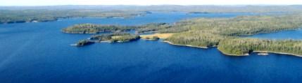 Wabatongushi Lake Looking North at Bear Point