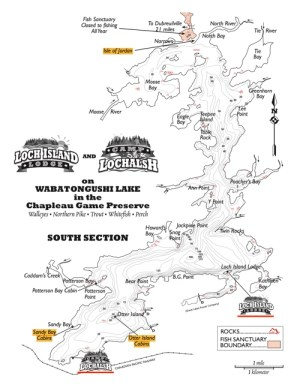 Loch Island Lodge & Camp Lochalsh - Wabatongushi Lake Map 2017