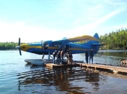 Hawk Air at Loch Island dock