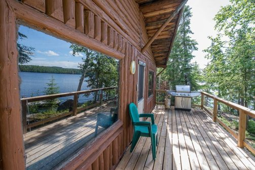 Otter Island 2 Bedroom Cabin Deck