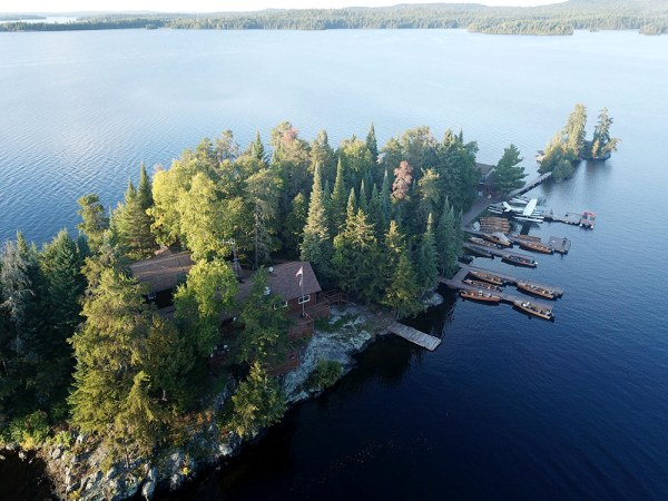 Loch Island Lodge From Above
