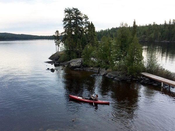 Kayaking off Loch Island