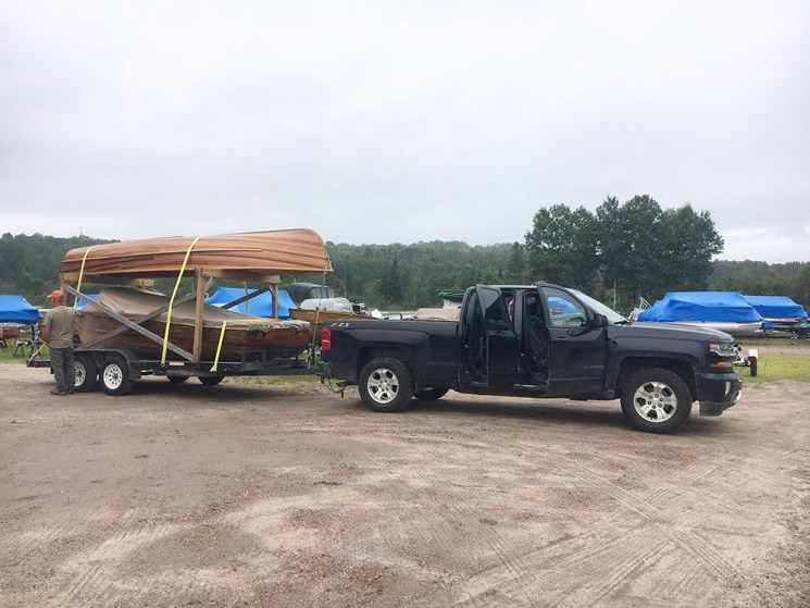 Our Giesler boats loaded