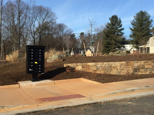 Lochlyn Hill, Charlottesville's newest neighborhood,  mailboxes