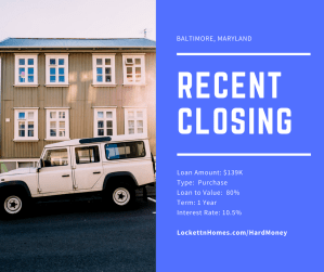 Recent Closing - Baltimore - 10.09.17