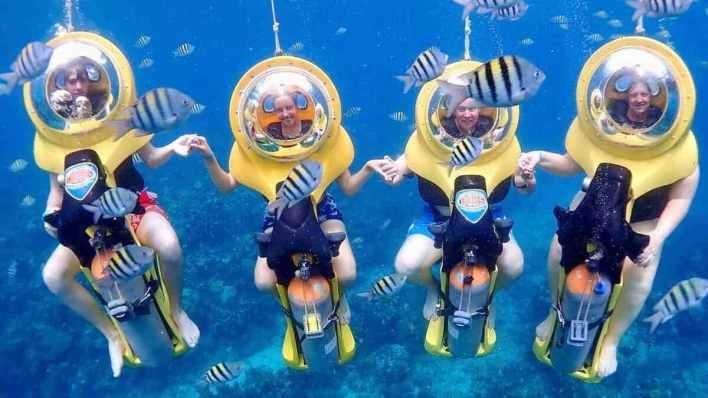 峇里島水上活動 - 海底潛水摩托車