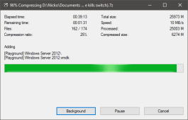 7-zip VM instance compression - Ultra