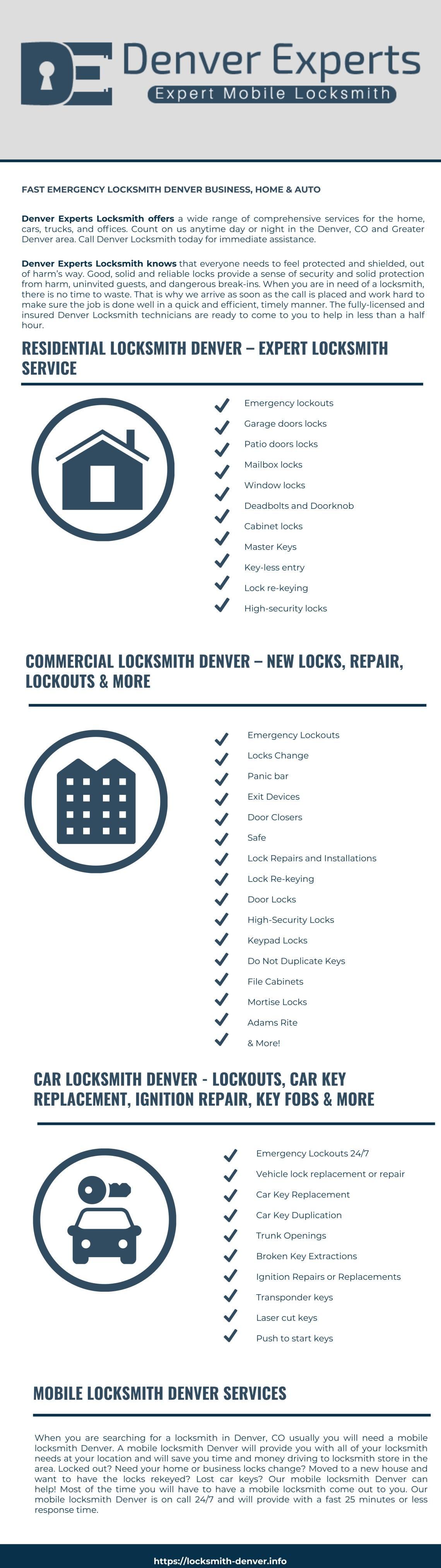 Denver Experts Locksmith Infographic Locksmith Denver