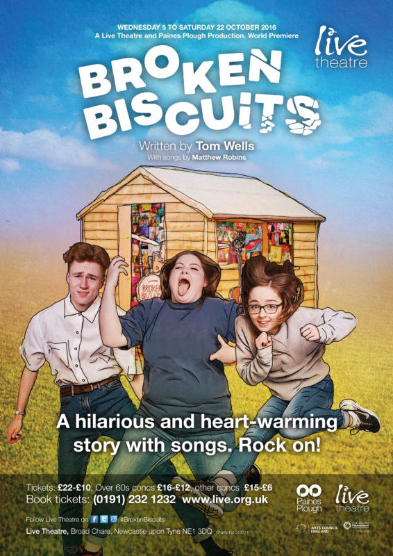Broken Biscuits Live Theatre poster A3